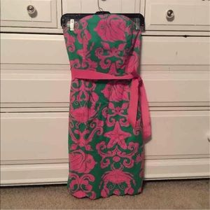 Lilly Pulitzer pink and green adorable dress